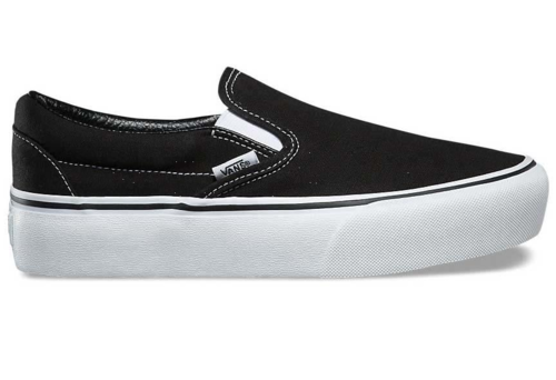 VANS Women Classic Slip-On Plattform, Black