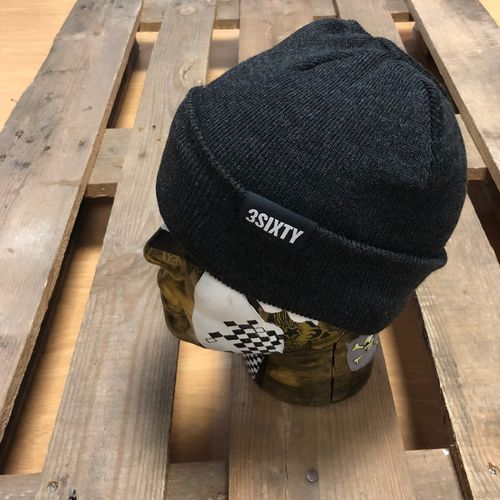 3SIXTY Beanie lang, grey